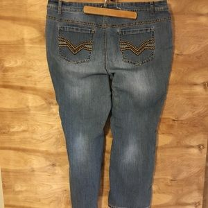 Cato premium women's  20W straight leg blue jeans